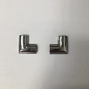 Ford Escort MKIII/IV Saloon Front Screen Chrome Insert Corner - Pair