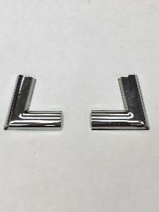 Ford Corsair Rear Screen Chrome Insert Corner - Pair